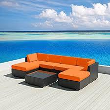 amazon com luxxella patio wicker sunbrella collection bella 7