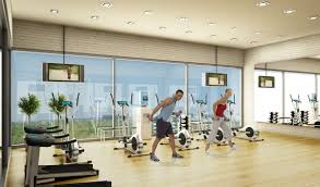 Home Gym Decorating Ideas Photos Nice Cream Gym Interior Design Photos Can Be Decor With Wooden