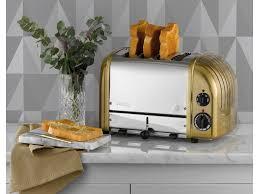 Dualit Toaster Uk Brass Finish 4 Slice Toaster The Original 4 Slot Newgen From Dualit