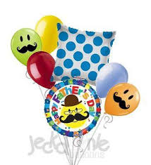 fathers day balloons mustache smiley happy s day balloon bouquet