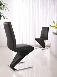 Modern Leather Dining Chairs Modern Luciano Leather Dining Z Chair Furniturebox