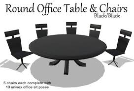 round office table and chairs second life marketplace office table chairs black box