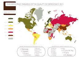 World Map Austria by File Democracy Ranking Of The Quality Of Democracy 2013 World Map