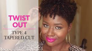 face for natural black tapered cut twist out on type 4 natural hair tapered cut youtube