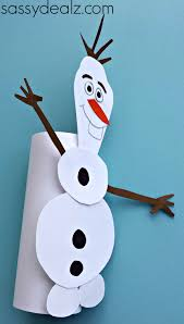 frozen olaf toilet paper roll craft kids crafty morning