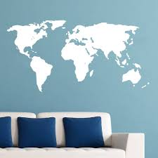 World Map Wall Sticker by 22 World Map Vinyl Wall Decal Home Garden Home Dcor Decals