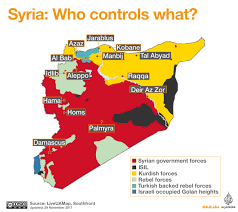 map of syria syria who controls what al jazeera