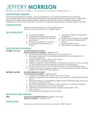 medical assistant resume template health symptoms and cure com