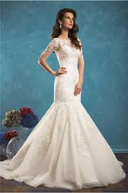 and flare mermaid sweetheart tulle lace wedding dress with short
