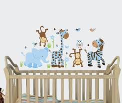 Nursery Wall Decorations Removable Stickers Baby Boy Nursery Wall Decals Animated Animal Removable Decor
