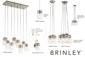 kichler lighting lights kichler 42877ni brushed nickel brinley 6 light 12
