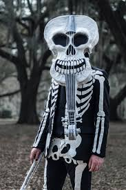 mardi gras skull mask paper maché violin skull mask manning makes stuff