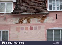 suffolk house wall prepared for painting with colour color