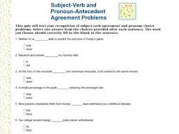 subject verb and pronoun antecedent agreement problems 2nd 4th