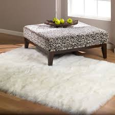 Fur Runner Rug White Faux Sheepskin Rug Fur Blanket Decorative Blankets