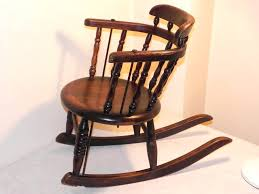Oak Rocking Chairs Victorian Era Oak Rocking Chair With Leather 1890s 1 Victorian