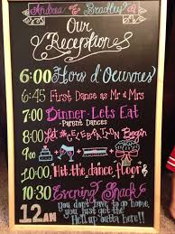 Wedding Program Chalkboard Best 25 Wedding Reception Timeline Ideas On Pinterest Wedding