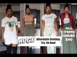 huge affordable clothing try on haul cute clothes for cheap 40