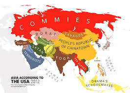 asia map with labels 31 maps mocking national stereotypes around the world bored panda