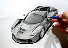 ferrari sketch my latest drawing of the ferrari la ferrari what a