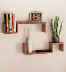 wall shelves pepperfry buy mango wood set of 2 wall shelves online in india at cooliyo