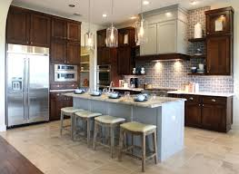 tan grey kitchen cabinet paint color with silver setting and