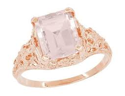 Wedding Rings Rose Gold by Vintage Rose Gold Engagement Rings Antique Jewelry Mall