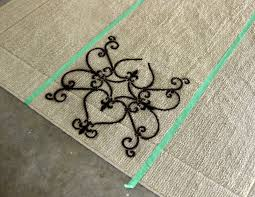 Painting A Jute Rug Diy Stenciled Rug Tutorial Using Spray Paint Reality Daydream