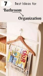 best ideas for bathroom organization
