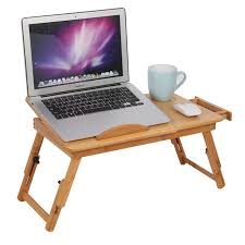 Laptop Stand Desk Adjustable Computer Desk Portable Bamboo Laptop Folding Table