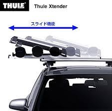 porta snowboard auto thule 739 xtender portasci scorrevole in alluminio per 6 paia