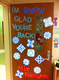Door Decorations For Winter - i u0027m snow glad you u0027re back winter door decoration