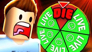 roblox wheel of death youtube