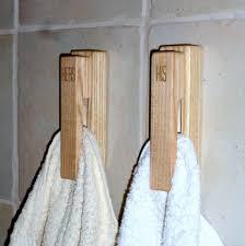 Towel Rack Ideas For Small Bathrooms Oak Double Towel Bar With Creative Design For Small Bathroom Ideas