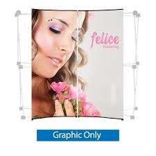 Graphic Panels Pop Up Display Tabletop 6 Ft Center Graphic Only 2 Graphic Panels