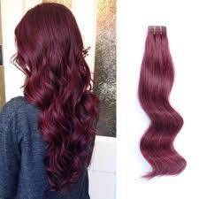 Red Tape Hair Extensions by Tape In Hair Extensions 530 Burgundy U2013 Amazingbeautyhairextensions