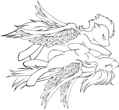 lineart soarin rainbow dash flying bliss by tinuleaf on deviantart