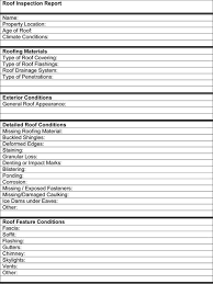 roof inspection report template inspection checklist template excel fieldstation co