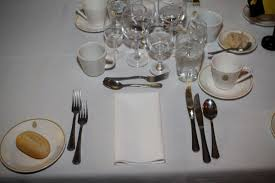 Formal Setting Of A Table Mess Etiquette And Mess Dinners