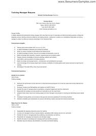 training manager resume training manager resume samples visualcv