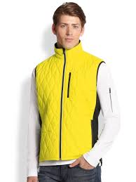 Gold Vest Womens Victorinox Glarus Quilted Vest In Yellow For Men Lyst