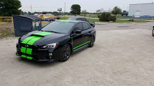 subaru black black u0026 green subaru wrx u2013 custom painted vehicles