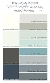readers favorite paint colors color palette mondaybest ice blue