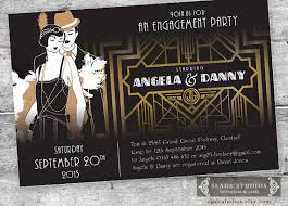 gatsby invitations great gatsby engagement party invitations poster style