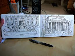 trevi fountain sketch unstringing the bow