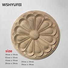wshyufei 8cmx8cm wood carving ornaments 15pcs lot home decoration