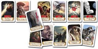 timeline historical events card toys