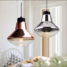 Cafe Pendant Lights Nordic Modern E27 Led Bronze Chrome Glass Pendant L Lights