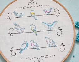 embroidery patterns rustic home decor embroidery