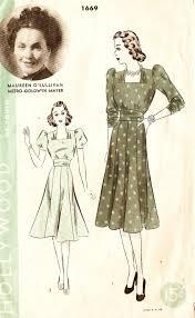 hollywood 1669 misses u0027 vintage 1940s pattern of youth dress